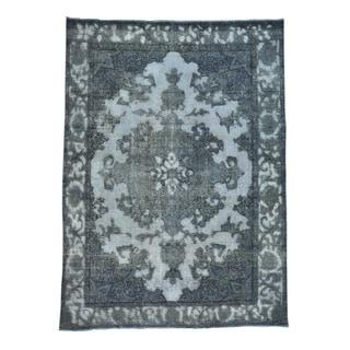 Handmade Overdyed Persian Tabriz Barjasta Oriental Rug (6'8 x 9'2)