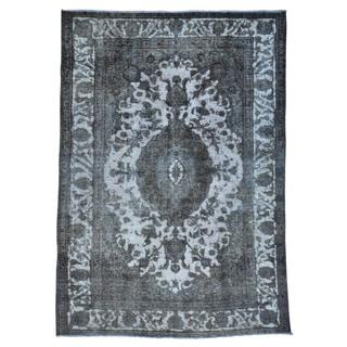 Oriental Rug Handmade Overdyed Persian Tabriz Barjasta (7'2 x 10'2)