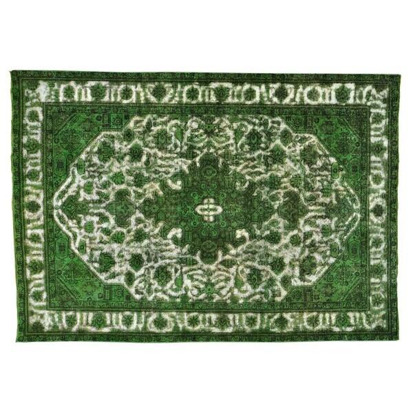 Overdyed Persian Tabriz Barjasta Handmade Rug (6'7 x 9'4) - 6'7 x 9'4