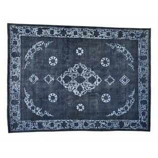 Handmade Overdyed Persian Tabriz Barjasta Oriental Rug (9'3 x 12'3)