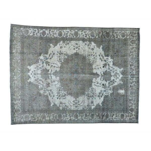 Handmade Overdyed Persian Tabriz Barjasta Oriental Rug