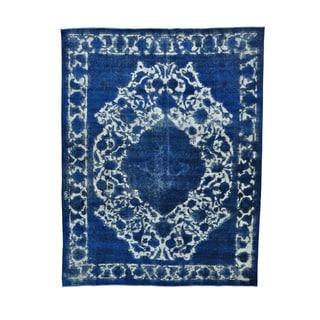Handmade Overdyed Persian Tabriz Barjasta Oriental Rug (9'10 x 12'10)