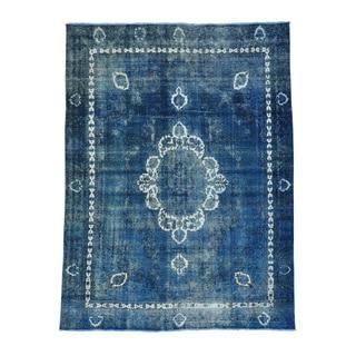 Persian Tabriz Barjasta Handmade Overdyed Oriental Rug (8'9 x 12')