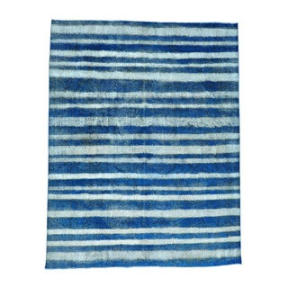 Persian Tabriz Barjasta Handmade Overdyed Oriental Rug (9'8 x 12'4)