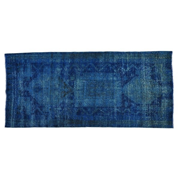 Wide Gallery Persian Mosel Hand-knotted Overdyed Runner Rug (4'8 x 10'3)