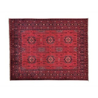Afghan Khamyab Vegetable Dyes Hand-knotted Oriental Rug (5' x 6'3)