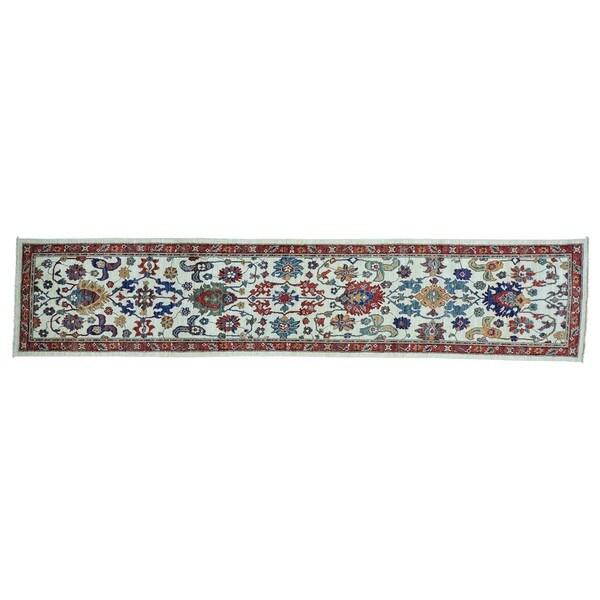 Hand-knotted Runner Antiqued Sultanabad Oriental Runner Rug - 2'4 x 20'1