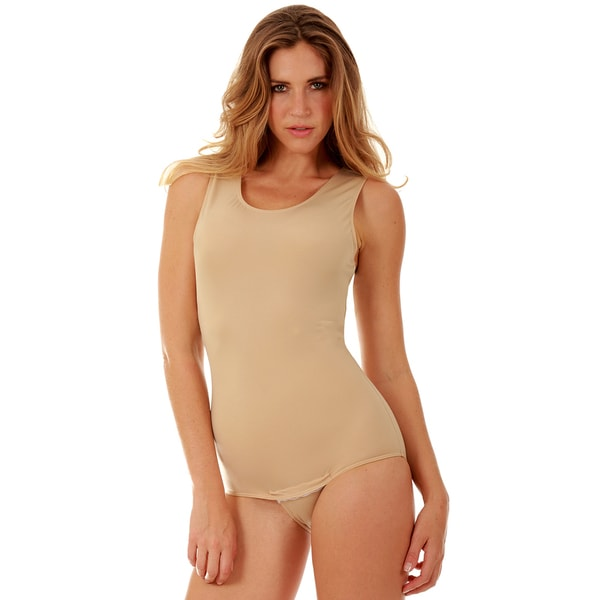 5b46f66db43 Shop Instantfigure Shapewear Tank Bodysuit with Snap Crotch - Free ...