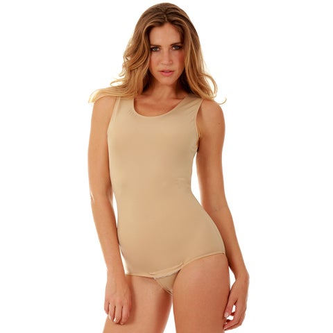 Instantfigure Shapewear Tank Bodysuit with Snap Crotch