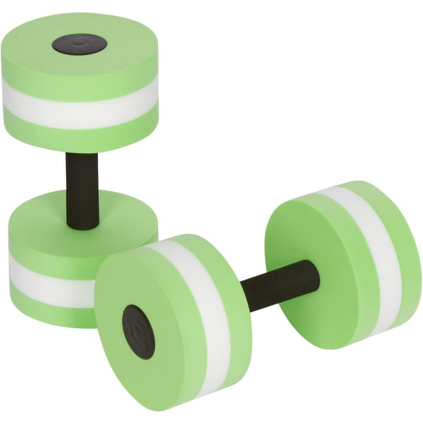 Light Green Aquatic Exercise Dumbells For Water Aerobics by Trademark Innovations (Set of 2)