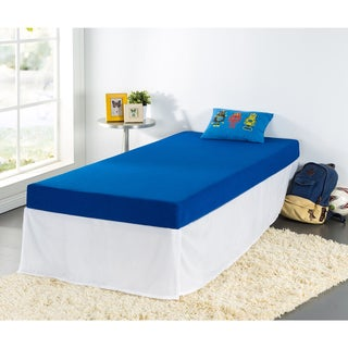 Priage Blue Youth 5-inch Twin-size Memory Foam Mattress