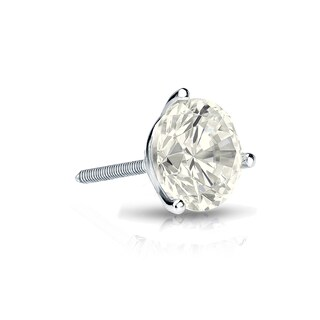 Auriya 14k Gold 1/3ct TDW Round SINGLE STUD (1) Diamond Earring (3 options available)