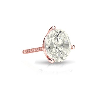 Auriya 14k Gold 1/3ct TDW Round SINGLE STUD (1) Diamond Earring (3 options available)