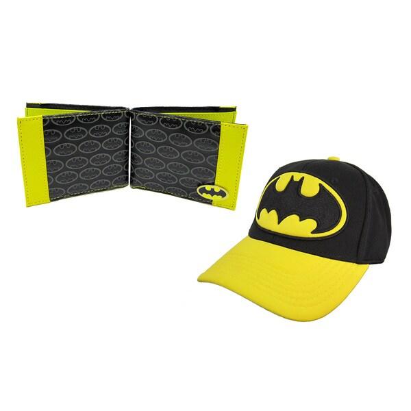 Batman Logo Hat and Wallet Combo