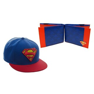 Superman Classic Hat and Wallet Combo