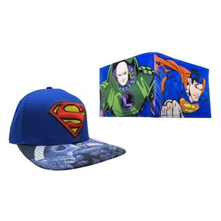 Superman Blue Hat and Lex Luthor Wallet Combo