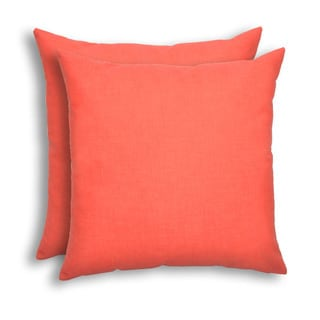 Jackson Indian Coral Indoor/Outdoor 17-inch Pillow - Set of 2