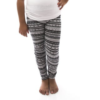 Soho Girls Black/ Multi Tribal Print Leggings
