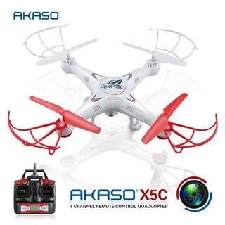 AKASO X5C 4CH 2.4GHz 6-Axis RC Quadcopter with HD Camera, Gyro Headle