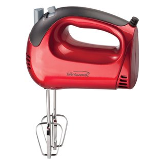 Brentwood HM-46 Red 5-Speed Hand Mixer