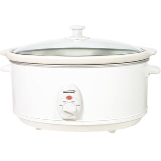 Brentwood SC-145W White 6.5 Quart Slow Cooker