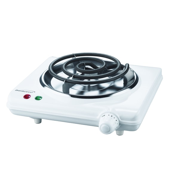 Brentwood TS-320 White 1000-watt Electric Single Burner