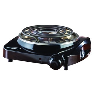 Brentwood TS-306 Black 1200-watt Electric Single Burner