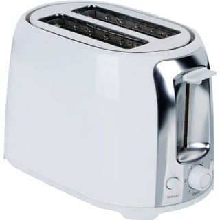 Brentwood 2 Slice Cool Touch Toaster - White and Stainless Steel