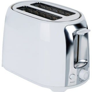 Brentwood TS-292W White Stainless Steel 2-Slice Cool Touch/ Wide Slot Toaster