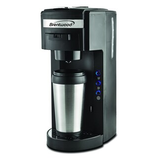 Brentwood TS-114 K-cup and Soft Pod Compatible Single Serve Coffee Maker with Mug - Free ...