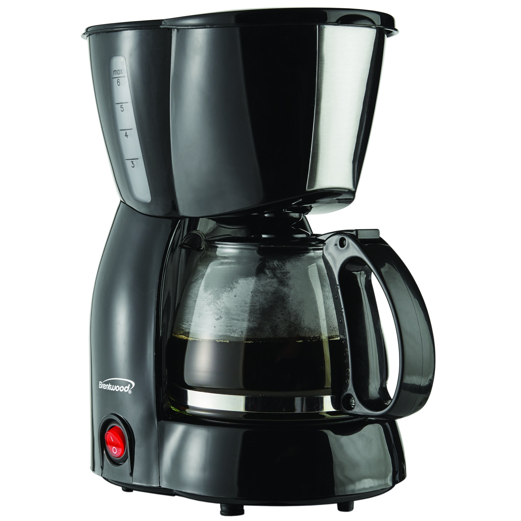 Brentwood TS-213BK Black 4-cup Coffee Maker (Glass)
