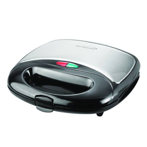 Brentwood TS-243 Black Stainless Steel Waffle Maker