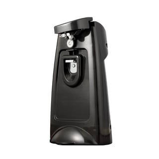 Brentwood J-29B Black Can Opener with Built-in Bottle Opener and Knife Sharpener