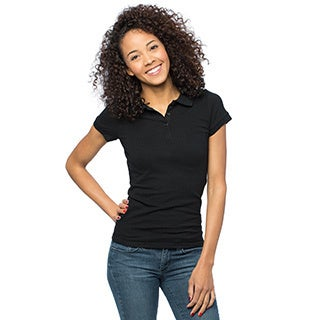 Women's Basic Fitted Casual Polo Shirt