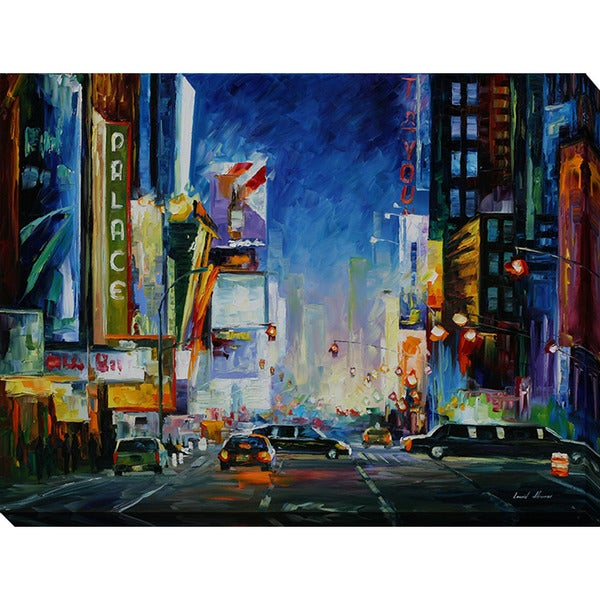 Leonid Afremov 'Broadway' Giclee Print Canvas Wall Art