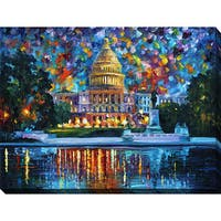 Leonid Afremov 'Capitol At Night Washington' Giclee Print Canvas Wall Art
