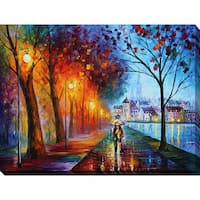 Leonid Afremov 'City By The Lake' Giclee Print Canvas Wall Art