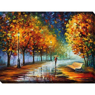 Leonid Afremov 'Fall Marathon' Giclee Print Canvas Wall Art
