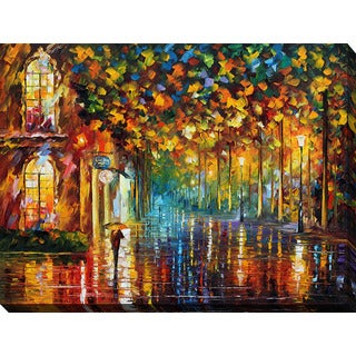 Leonid Afremov 'Late Stroll 2' Giclee Print Canvas Wall Art