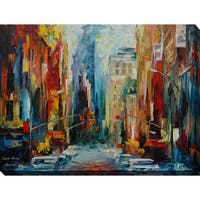 Leonid Afremov 'New York, Early Morning' Giclee Print Canvas Wall Art