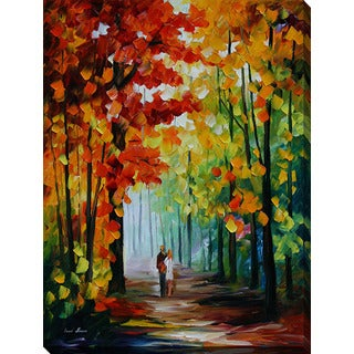 Leonid Afremov 'Morning In The Woods' Giclee Print Canvas Wall Art