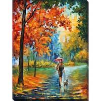 Leonid Afremov 'Intriguing Autumn' Giclee Print Canvas Wall Art