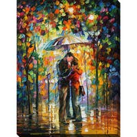 Leonid Afremov 'Kiss In The Park' Giclee Print Canvas Wall Art
