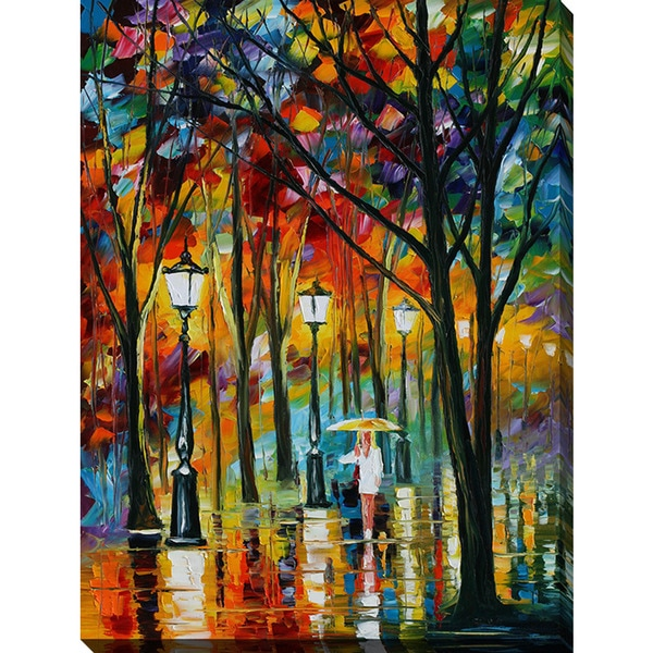 Leonid Afremov 'Lady In White' Giclee Print Canvas Wall Art