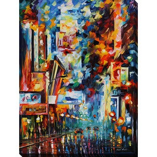Leonid Afremov 'Night Broadway' Giclee Print Canvas Wall Art