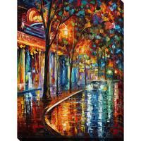 Leonid Afremov 'Night Cafe' Giclee Print Canvas Wall Art