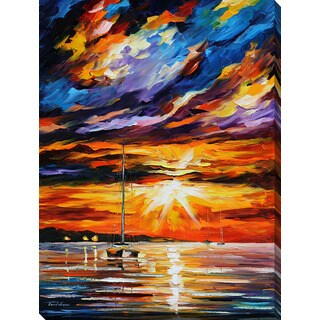 Leonid Afremov 'Sunset Melody' Giclee Print Canvas Wall Art