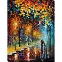 Leonid Afremov 'The Warmth Of Friends' Giclee Print Canvas Wall Art