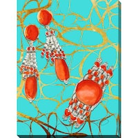BY Jodi 'Namasta With My Jewerly' Giclee Print Canvas Wall Art