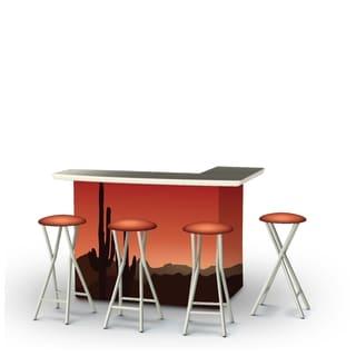 Best of Times 5-piece Portable Desert Patio Bar Set